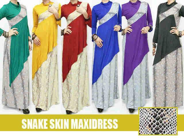 snake skin maxi