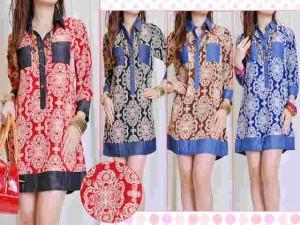 Blouse Silky Batik 80rb