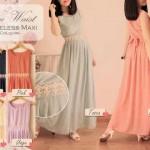 lace waist maxi 110rb