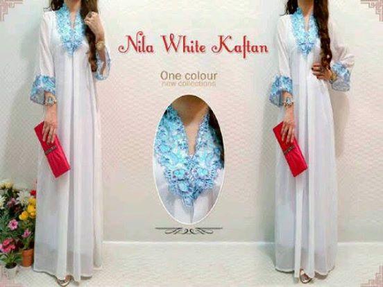 Nila White Kaftan