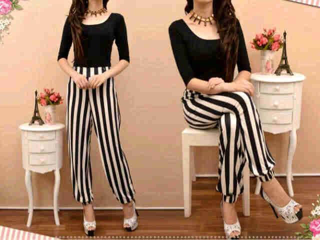 idr80 celana zebra  bahan  spandex  korea~ fit to L besar ready