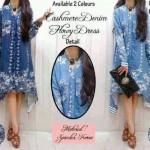 flowy dress denim