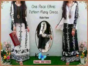 One piece Etnic Pattern Maxi  Dresses