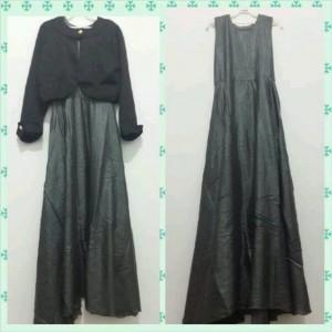 Dress Pesta Grey Maxi
