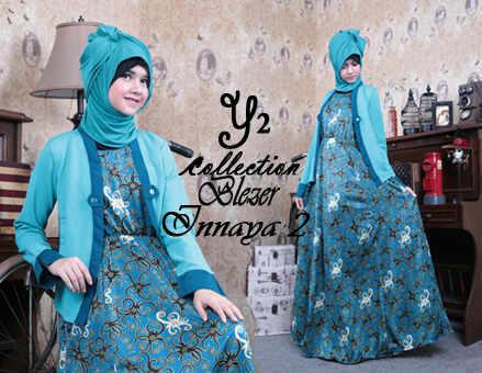Idr155 Blazer INNAYA 2, umbrella maxi + blazer bahan wedges batik katun sutra GQ & wedge impor