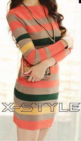 Rainbow stipe dress 69rb