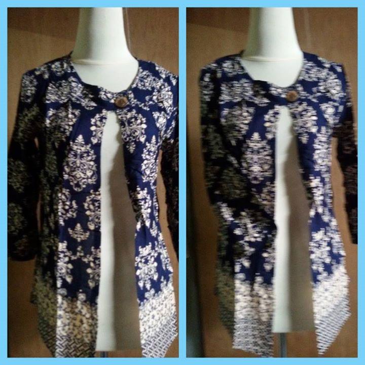 cardi batik blue