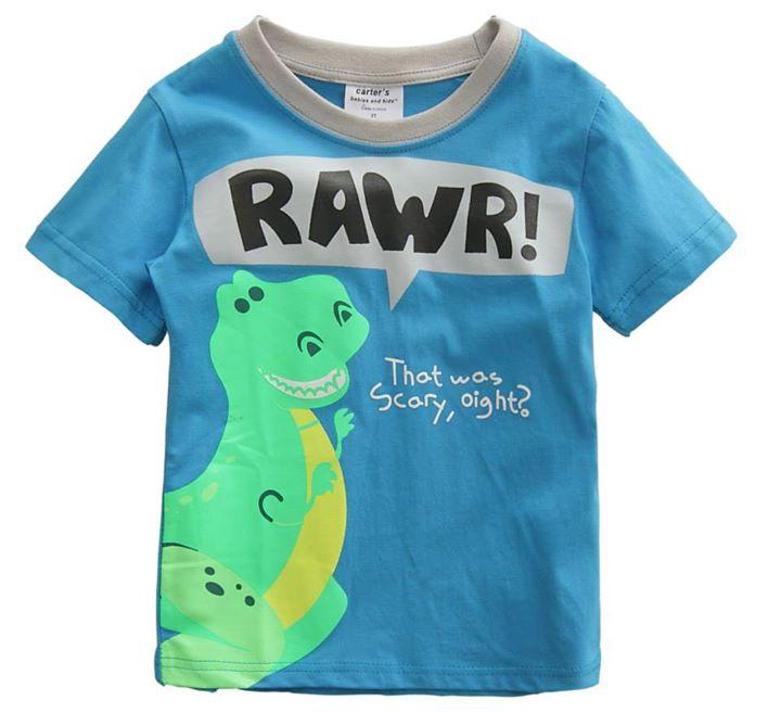 cute tee rawr blue