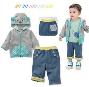 BelleMaison Jacket Set Pant Blue