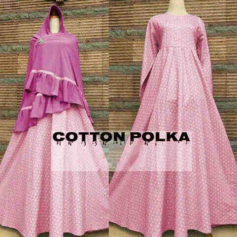 cotton polka pink