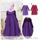 Gamis Anak Purple include jilbab