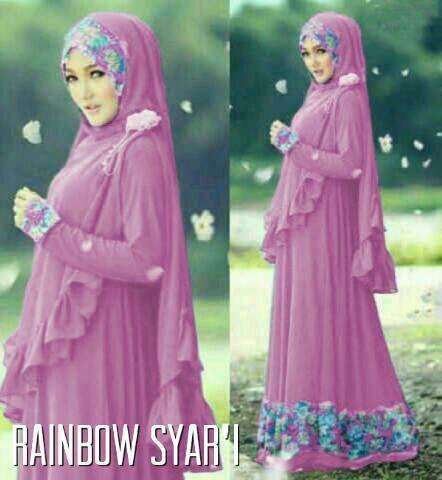 rainbow syar'i ungu