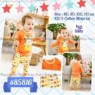 Set Orange Baby Pajama