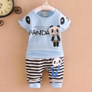 Set Panda Biru Salur