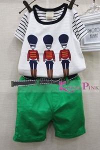 Set Green People Korea Pink
