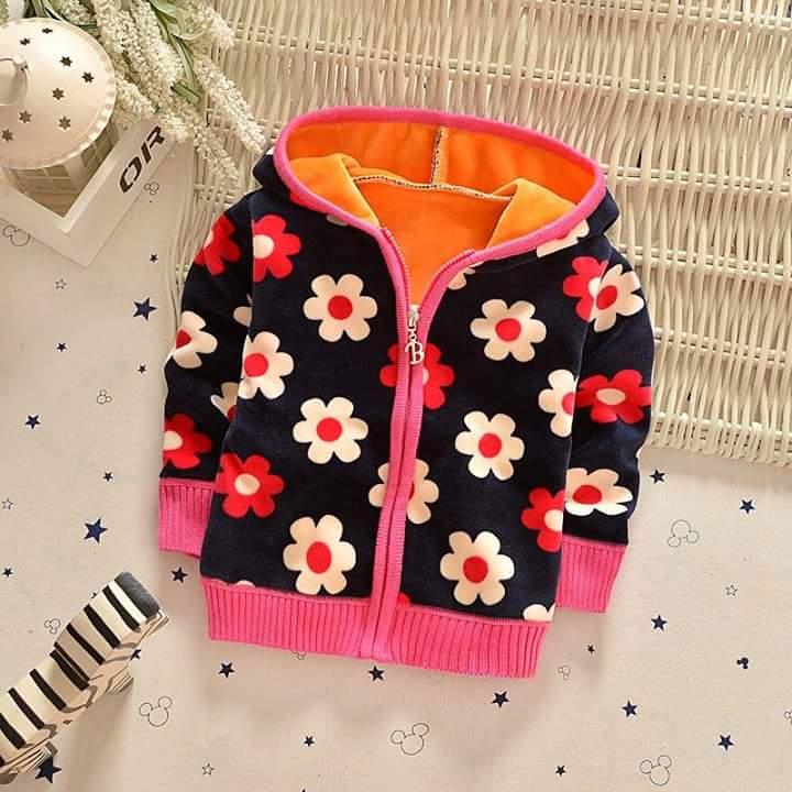 jaket baby bunga hitam