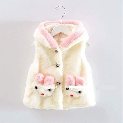 jaket bludru putih
