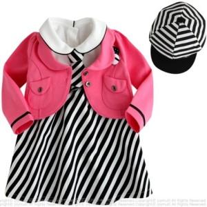 Dress Korean Pink Salur