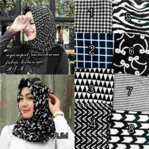 Jilbab Monochrome segi empat