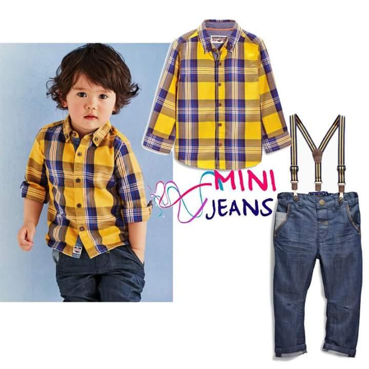 minni jeans yellow