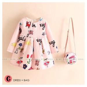Dress anak Impor + Bag
